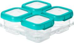 Blauwgroene OXO tot Vierdelige set diepvriesdoosjes (120 ml) Teal