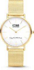 CO88 Collection Watches 8CW 10077 Horloge - Mesh Band - Ø 32 mm - Goudkleurig