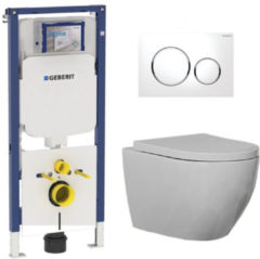 Douche Concurrent Geberit UP720 Toiletset - Inbouw WC Hangtoilet Wandcloset Rimfree - Beauti Sigma-20 Wit