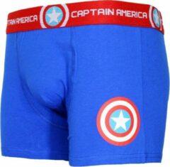 Marvel Comics Captain America Logo Boxershort Onderbroek Blauw/Rood/Wit