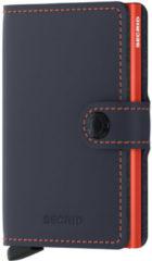 Lichtblauwe Secrid Mini Wallet Portemonnee Matte Night Blue / Orange