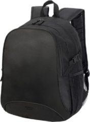 Shugon Allround rugzak/rugtas zwart 44 cm - A4-formaat - Schooltas - Laptoptas/boekentas zwart