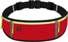 Marjaqe Sport Heupband - Hardloopband Telefoon - Sportband - Hardloop Riem - Heuptas - Unisex/Onesize - Running belt - Rood