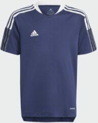 Marineblauwe Adidas Tiro 21 Training Voetbalshirt
