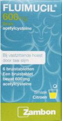 Fluimucil Hoest 600 mg 6 bruistabletten