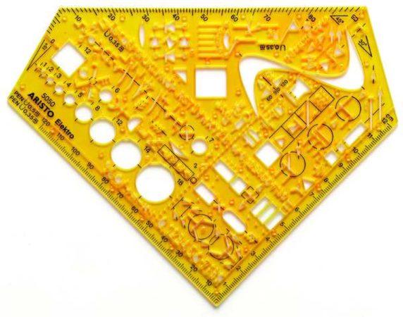 Afbeelding van Gele Sjabloon Aristo Electrotechniek AR-5050