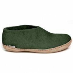 Glerups Huis schoen vilt groen