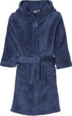 Playshoes - Fleece badjas met capuchon - Donkerblauw - maat 98-104cm