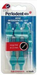 Perlodent Med- 5x6 stuks- Tandenstokers- Ragers- 2,0mm- blauw