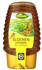 De Traay Bloemen Honing Knijpfles Eko (1 Fles van 375 gr)