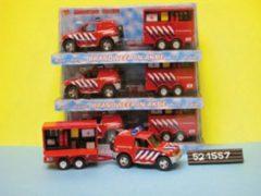 KidsGlobe Brandweer jeep met aanhanger Die Cast