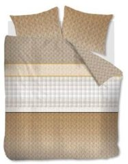 Goudkleurige Beddinghouse Dorette Dekbedovertrek - 2-persoons (200x200/220 Cm + 2 Slopen) - Katoen Satijn - Gold