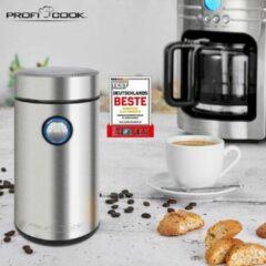 ProfiCook PC-KSW 1216 elektrische koffieslagmachine, 40 g inhoud, 150 watt motor, 2-voudig roestvrijstalen slagmes, roestvrijstalen behuizing, 501216