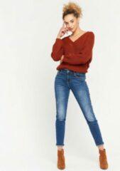 Donkerblauwe LOLALIZA Jeans met pailletten - Donker Blauw