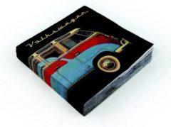 Brisa Set van 20 servetten Volkswagen - Uitvoering - Zwart met rood / blauwe bus