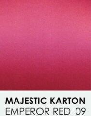 Rode Karton met glinster notrakkarton Majestic emperor red 09 A4 250 gr.
