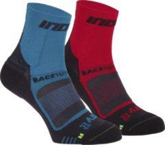 Inov-8 - Race Elite Pro Sock - Hardloopsokken maat M, zwart/blauw/rood