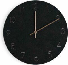 Balvi Wandklok 29 X 4,5 Cm Hout Zwart