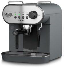 Roestvrijstalen Gaggia RI8523/01 Vrijstaand Half automatisch Espresso maker 1.4l 2kopjes Zwart, Roestvrijstaal koffiezetapparaat