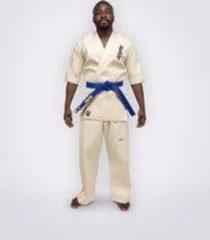 Witte Professioneel Kyokushin Karatepak, Gevorderden & Multi niveau, Ichiban MAE White Label Karate Dogi, Kleur ecru (ongebleekt), Materiaal 100% katoen (jas 12 oz / broek 10 oz), Lengte / Maat 140 cm