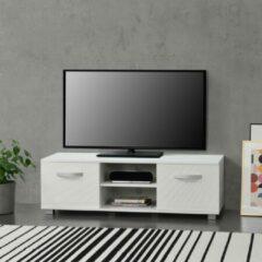 En.casa Tv meubel Laugar met planken 120x40x38 cm wit