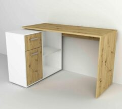 FMD - Bureau Albrecht - 117 cm - Bruin/Wit - Spaanplaat