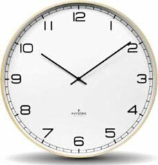 Beige Huygens - Wood 45 Arabic - Wit - Wandklok - Stil - Quartz uurwerk