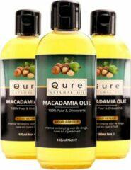 Qure Natural Oil Macadamia Olie | 100% Puur & Onbewerkt (100ml) | Macadamia Oil voor Haar, Gezicht en Lichaam