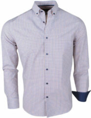Blauwe Montazinni Jan paulsen heren design overhemd regular fit