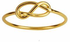 Juulry Goud Plated Ring met Knoop-maat 6