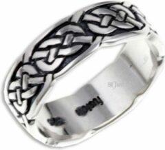 St Justin Ltd Pictish Knot (Narrow) Zilveren Ring Maat 57