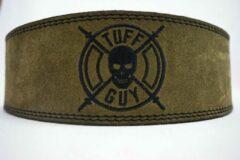 Tuff Guy Sports Military groen Lifting Belt, Large, met Fast Clip systeem en 12mm dikte.