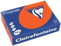 Rode Clairefontaine Trophée Intens A4 kardinaalrood, 210 g, 250 vel