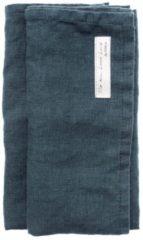 Donkerblauwe Himla Sunshine servetten 45 x 45 cm set van 4
