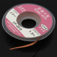 Meco Effetool 5Ft/1.5mx2mm Desoldering Braid Solder Remover Copper Wick Spool Wire Cable Welding Wire