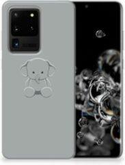 Samsung Galaxy S20 Ultra Telefoonhoesje met Naam Grijs Baby Olifant