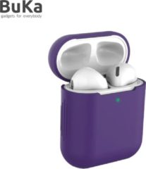 Airpodhoes Bescherm Hoes Cover Case voor Apple AirPods (Siliconen) - Paars