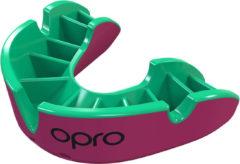 OPRO Gebitsprotectie Unisex Silver Adult - 222200 Roze/Fluo groen