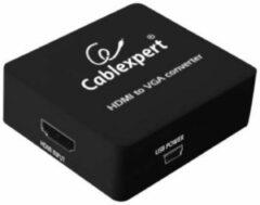 Zwarte Gembird CablExpert DSC-HDMI-VGA-001 - Converter HDMI - VGA