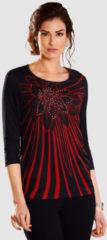 Shirt Paola zwart/granaatrood