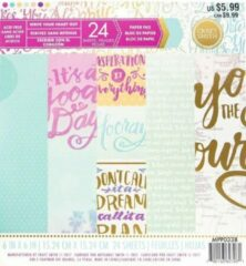 """Craft Smith: Write Your Heart Out Paper Pad 6*6"""" (MPP0338)"""