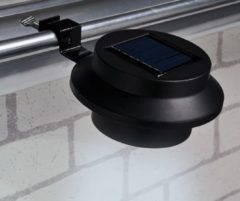 Huismerk Premium 2 Dakgoot LED Solar Lampen Zwart - 600mAh
