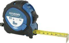 Blauwe Hyundai Power Products Hyundai rolbandmaat 8 meter x 25 mm MID / rolmeter / rolband / rolmaat
