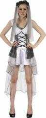 Witte P'TIT Clown Verkleedkleding - Gothische Bruid - 14/16 jaar