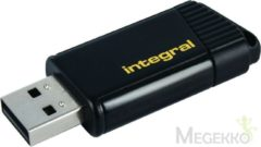 Gele Integral Pulse 64GB USB 2.0 Capacity Zwart, Geel USB flash drive