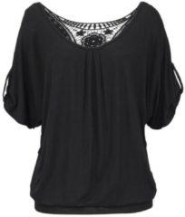 Zwarte LASCANA shirt met bloemenprint allover