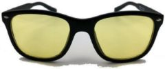 Gele Dunlop Nachtbril - autobril - Wayfarer model - handig in het donker