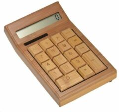 Beige Merkloos / Sans marque Bamboe Houten Rekenmachine Calculator