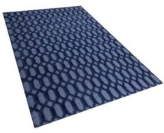 Blauwe Beliani Cizre Vloerkleed Viscose 140 X 200 Cm