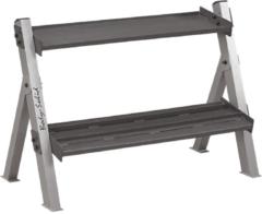 Grijze Dual Dumbbell & Kettlebell Rack Body-Solid - GDKR100